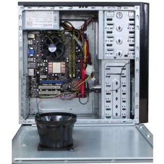 Mini Tower PC Core 2 Quad Q8300 @ 2,5 GHz Asus P5QL- CM 4GB 80GB HDD DVD